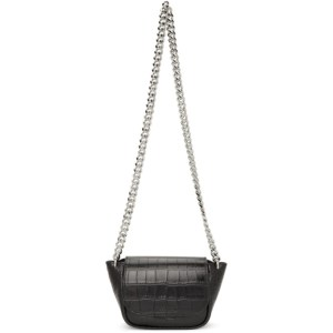 Simon Miller Black Croc Mini Bend Bag