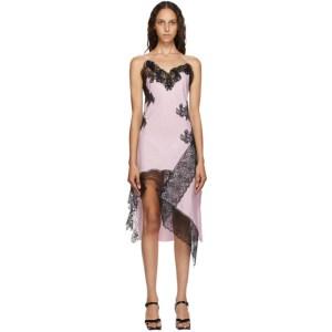 Marques Almeida Pink Lace Slip Dress