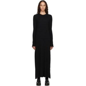Marques Almeida Black Rib Knit Long Dress