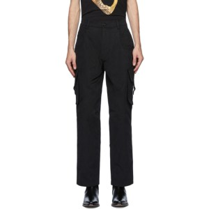 Moschino Black Plain Cargo Pants