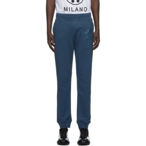 Moschino Blue Faded Logo Sweatpants