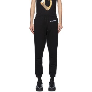 Moschino Black 3D Logo Lounge Pants