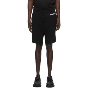 Moschino Black Broken Logo Shorts