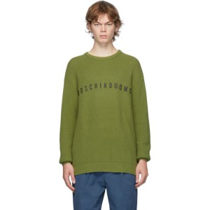Moschino Green Moschinouomo Crewneck Sweater