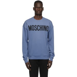 Moschino Blue Logo Sweatshirt
