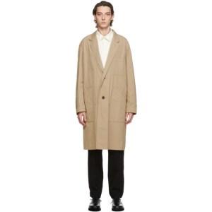Issey Miyake Men Beige Gabardine Coat