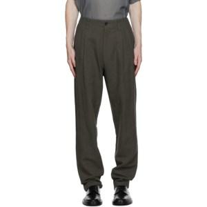 Issey Miyake Men Khaki Panama Trousers