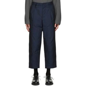 Issey Miyake Men Navy Padded Memory Trousers