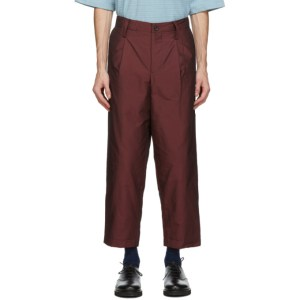 Issey Miyake Men Red Insulated Memory Trousers