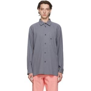 Issey Miyake Men Grey Cotton Drip Shirt