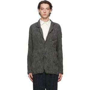 Issey Miyake Men Grey Corduroy Twist Blazer
