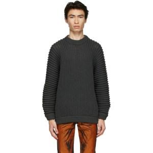 Issey Miyake Men Grey Gauge Low Sweater