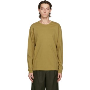Issey Miyake Men Taupe Cotton Long Sleeve T-Shirt
