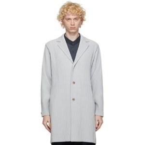 Homme Plisse Issey Miyake Grey Basic Long Coat