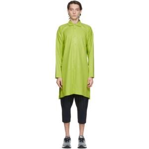 Homme Plisse Issey Miyake Green Press Tunic Shirt