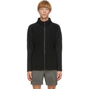 Homme Plisse Issey Miyake Black Basics Zip-Up Jacket