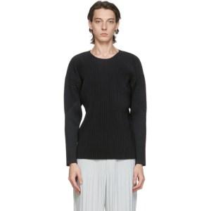 Homme Plisse Issey Miyake Black Basics Long Sleeve T-Shirt