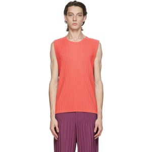 Homme Plisse Issey Miyake Pink and Purple Pleated Quartet Tank Top