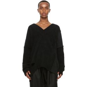 Isabel Benenato Black Knit Yak Sweater