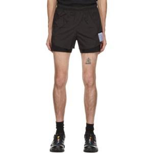 Satisfy Black Short Distance 3 Inch Shorts