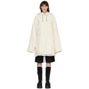 Sunnei Off-White Long Hoodie