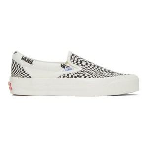 Vans Black and White Check OG Classic Slip-On LX Sneakers