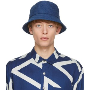 Blue Blue Japan Blue Yarn-Dyed Sashiko Bucket Hat