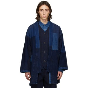 Blue Blue Japan Blue Patchwork Haori Coat