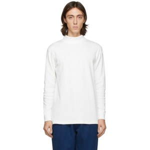 Blue Blue Japan Off-White Hand-Dyed Rib Knit Turtleneck