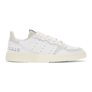 adidas Originals White and Grey Supercourt Sneakers