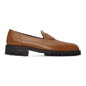 Telfar Brown Logo Loafers