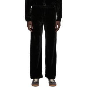 CMMN SWDN Black Wool Velvet Kylo Trousers