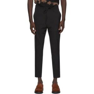 CMMN SWDN Black Stan Trousers
