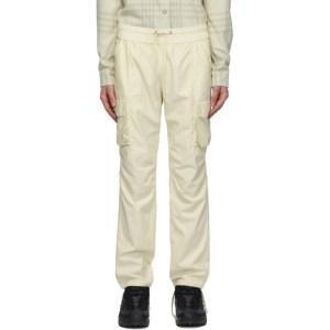 John Elliott Off-White Cotton Cargo Pants
