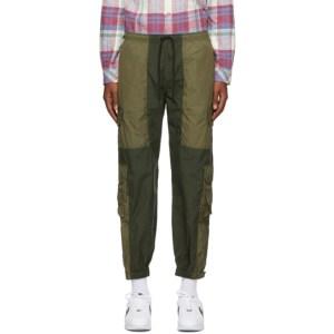 John Elliott Green Paneled Nylon Cargo Pants