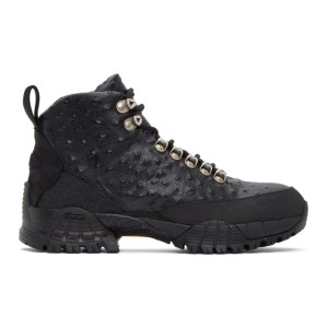 1017 ALYX 9SM Black Ostrich Hiking Boots