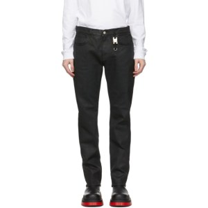 1017 ALYX 9SM Black Six-Pocket Moonlit Jeans