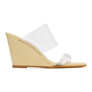 Maryam Nassir Zadeh Yellow Olympia Wedge Sandals