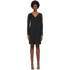 Victoria Victoria Beckham Black V-Neck Dress