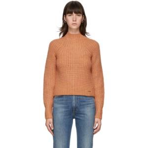 Victoria Victoria Beckham Orange Bell Sleeve Sweater
