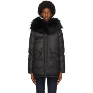Mr and Mrs Italy Black Down Puffer Jacket