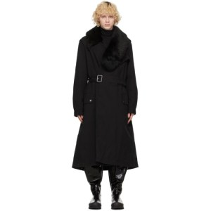 Mr and Mrs Italy Black Nick Wooster Edition Trench Coat
