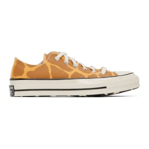 Converse Brown and Yellow Giraffe Chuck 70 OX Low Sneakers