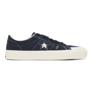 Converse Navy Suede One Star Pro Sneakers