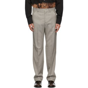 Our Legacy Grey Wool 22 Chino Trousers