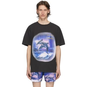 Han Kjobenhavn Black Swim With Dolphins T-Shirt