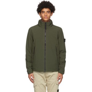 Stone Island Green Soft Shell-R Jacket