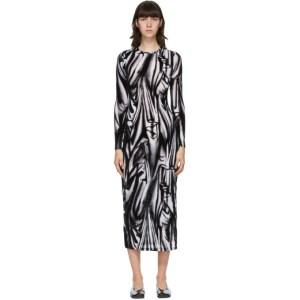 Eckhaus Latta Black and White Illusion Shrunk Mid-Length Dress