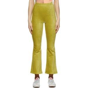 Eckhaus Latta SSENSE Exclusive Yellow Velour Trousers