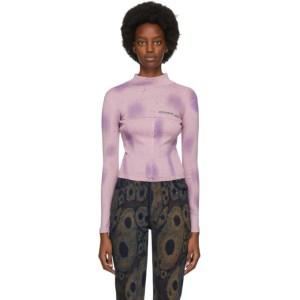 Eckhaus Latta Purple Long Sleeve Lapped Baby Turtleneck